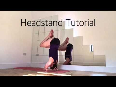 supported headstand tutorial yoga  youtube sirsasana