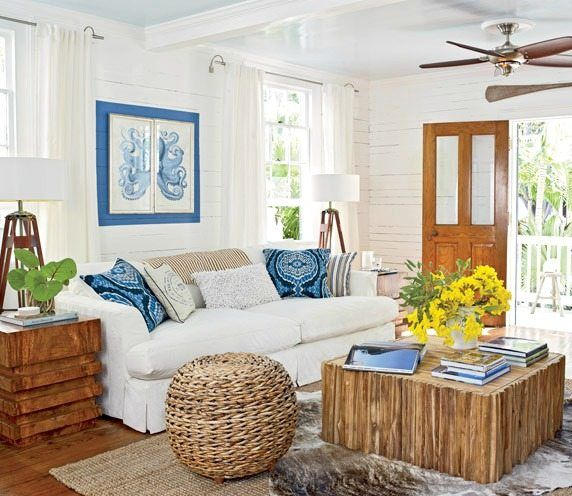 island style decorating living room white sets cozy cottage home in key west pinterest decor ideas
