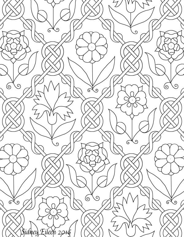 Freehand Blackwork Embroidery Patterns By Sidney Eileen 16th