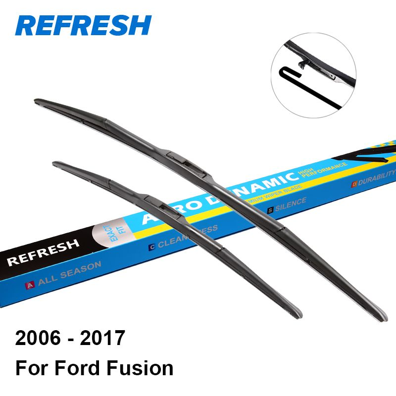 """Refresh Wiper Blades For Ford Fusion 24""""&19"""" Fit Pinch Tab"""