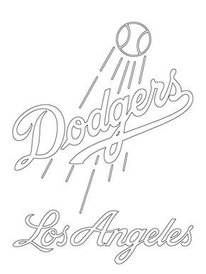 Click To See Printable Version Of Los Angeles Dodgers Logo Coloring Page Baseball Coloring Pages Los Angeles Dodgers Logo Dodgers