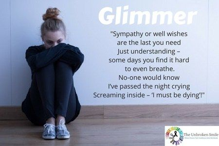 Glimmer poem   Poem about living with chronic pain