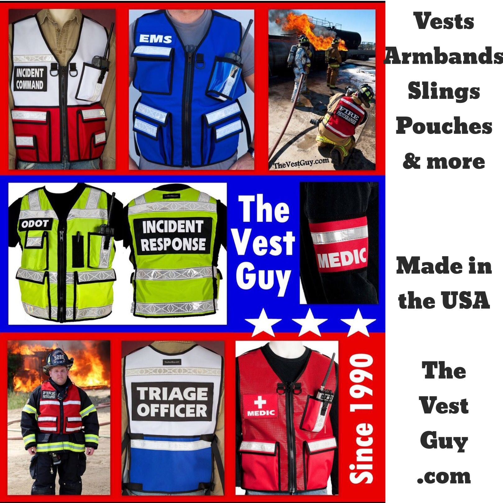 Custom vests, armbands, slings, pouches, & more. From