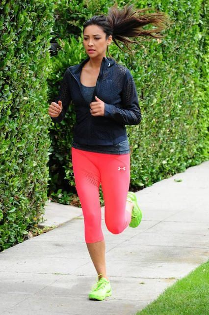 buy online 02bfd 75bb8 Pretty Little Liars  Shay Mitchell working out in Santa Monica, California.