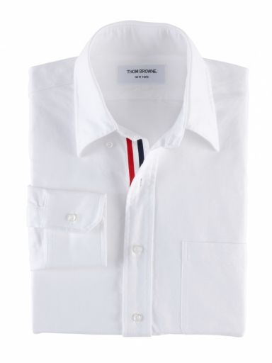CLASSIC OXFORD BUTTON DOWN SHIRT WITH GROSGRAIN PLACKET |THOM BROWNE. NEW YORK / トムブラウン 公式通販