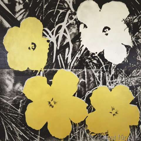 Andy Warhol - Flowers (Yellow and White), 1966