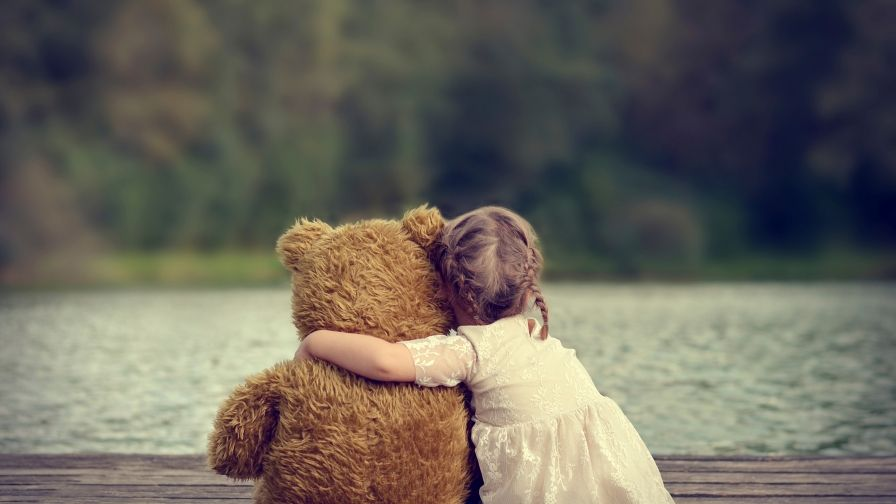 Cute Girl Teddy Bear Wallpaper Free Hd Download Now Teddy Bear Hug Teddy Bear Girl Teddy Bear Images Children with toy hd wallpapers