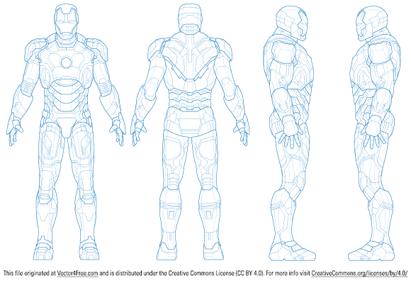 After Watching Ironman 3 I Figured It Was Only Fair To Make Another Set Of Vectors For The Mark 42 Armo Marvel Superhero Posters Iron Man Character Model Sheet