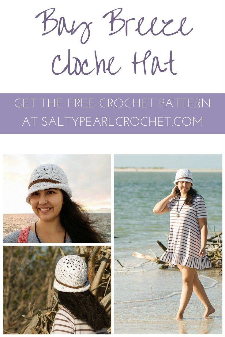 Bay Breeze Cloche - Free Ladies Crochet Beach Hat Pattern | Pinterest