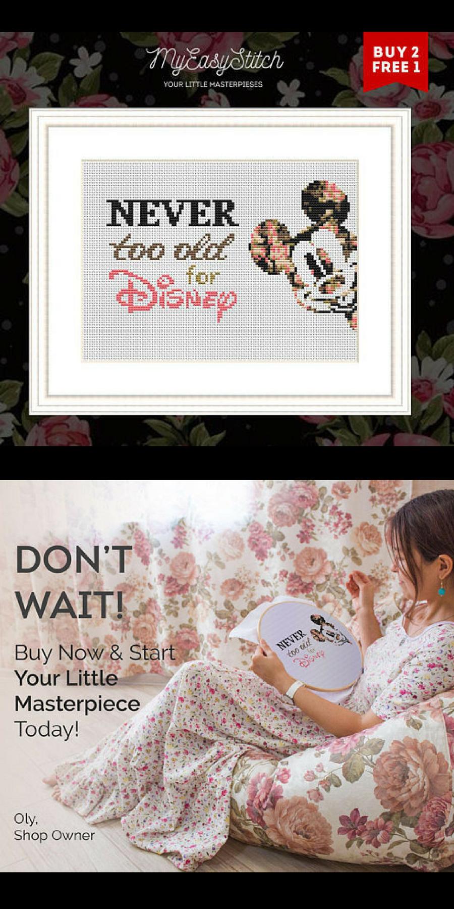 Cross Stitch PDF- Disney Cross stitch pattern Graphic Cross Stitch