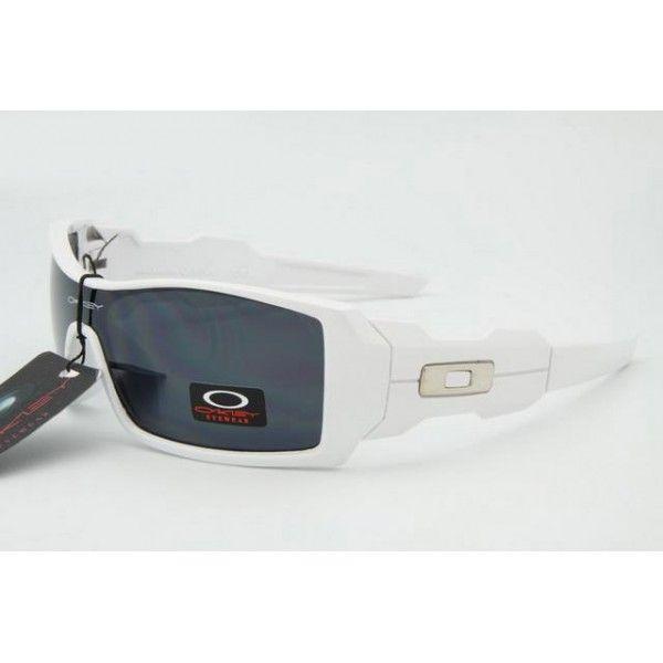 $13.99 Cheap Oakley Oil Rig Sunglasses White Frame Black Lens Online Deal  www.racal.