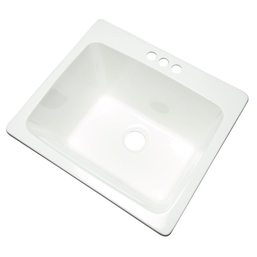 Shop Project Source White Composite Laundry Sink at Lowes.com ...