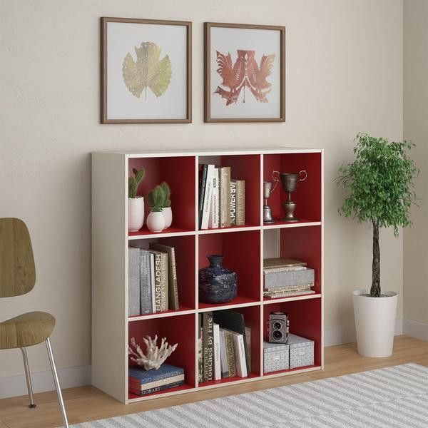 Wonderful Altra Wink 9 Cube Storage Bookcase, 12 By 12 Inch, Red