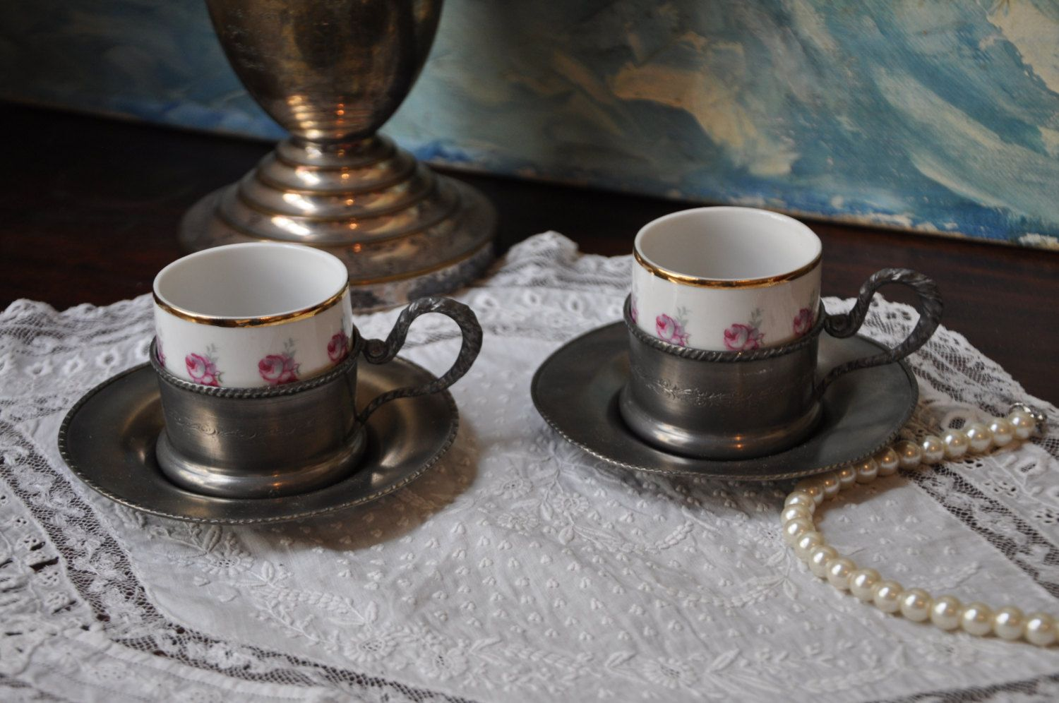 Small Coffee Cups And Saucers Vintage Espresso Cups Small Coffee Cup Khala Cup German