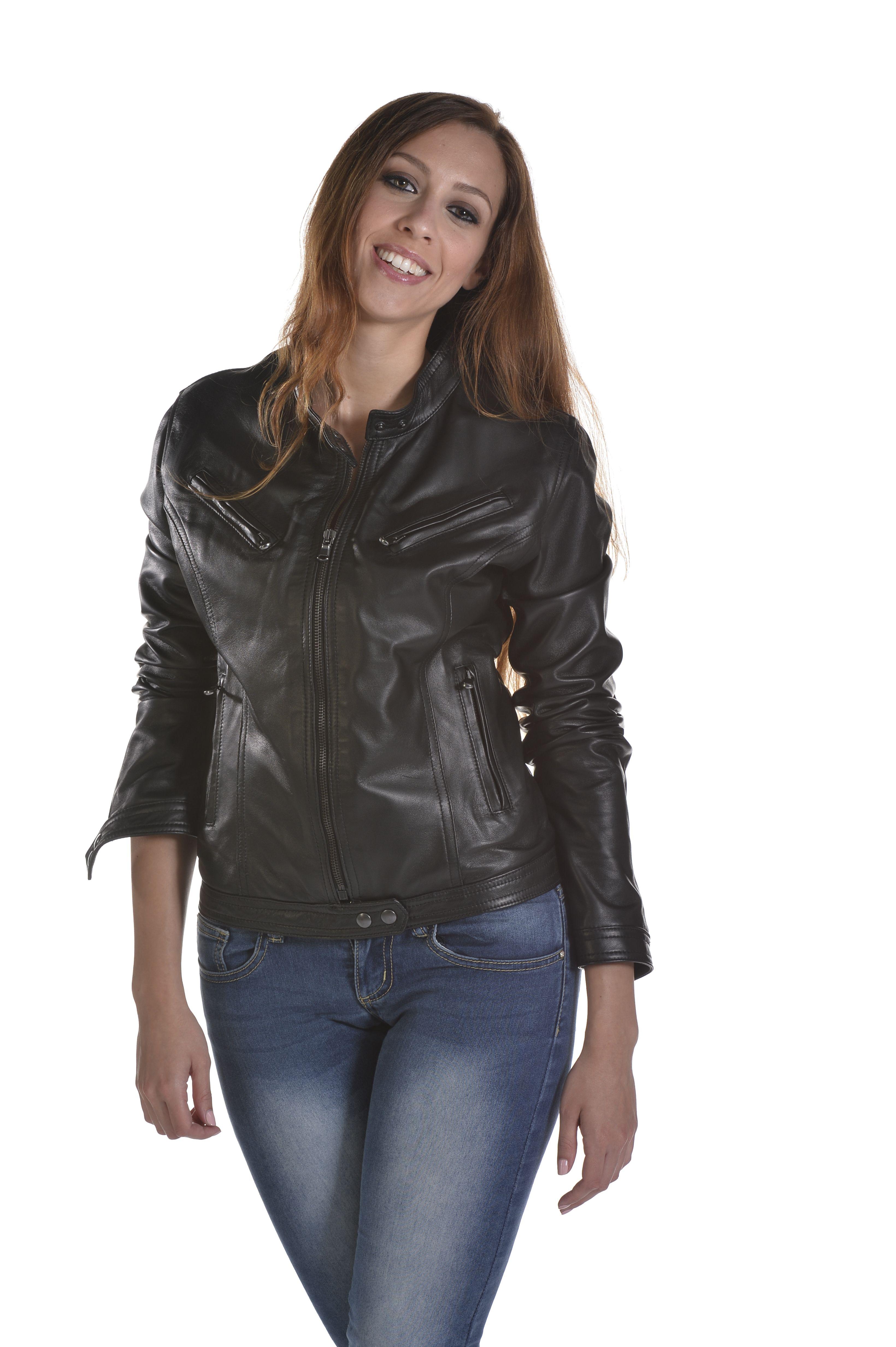 Leather jackert art Luisa giubbino in pelle colore nero