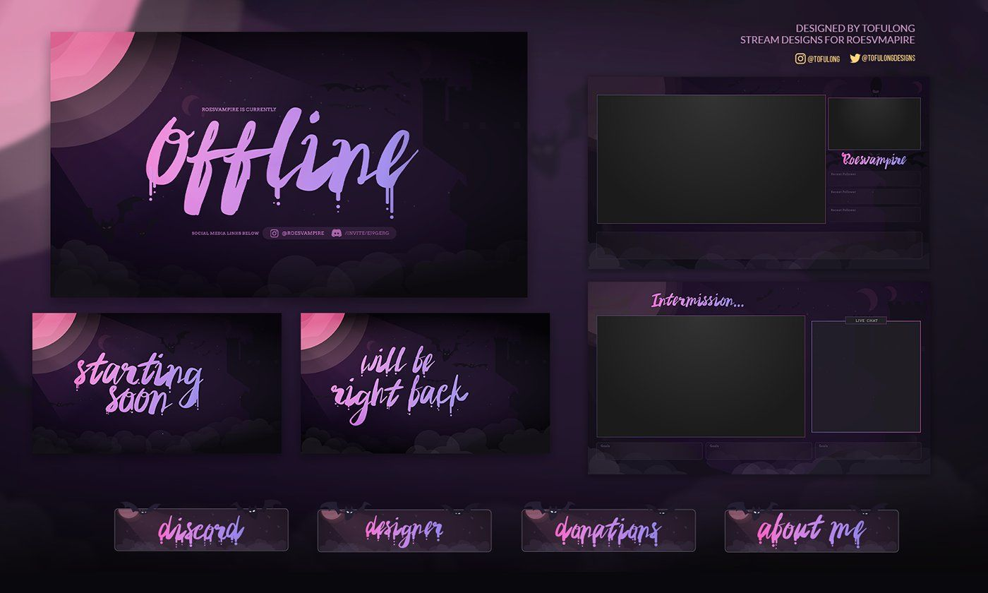 Tofulong Graphic Animation Twitch Designs On Twitter Twitch Streaming Setup Website Inspiration Twitch