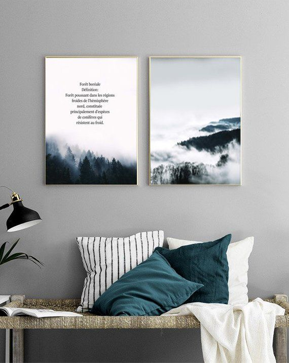 Mountain Print Minimalist Art Modern Art Poster   Etsy