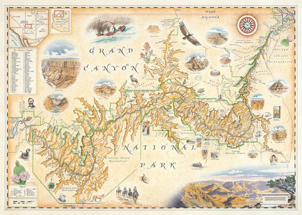 hand drawn maps Google Search Grand canyon map