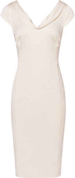 REISS ENGLAND DUCHESS CATHERINE DRESS Fitted V Neck Dress - Lyst ...