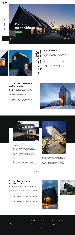 Architecture Website design layout, Web development