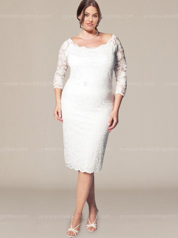 For the more casual bride opt for our plus size Aurora Lace