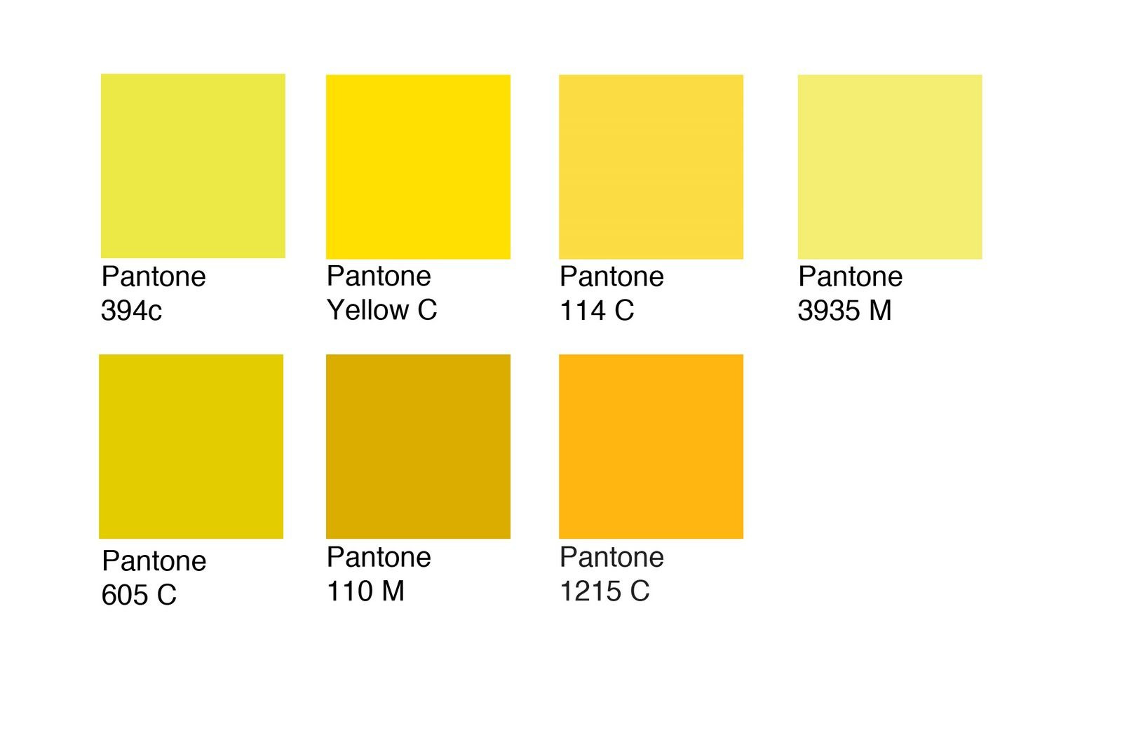 Image Result For Pantone Process Yellow