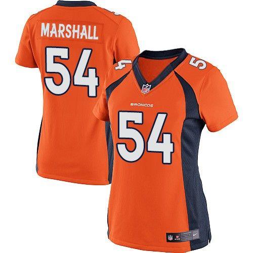 2498374607f Nike Elite Brandon Marshall Orange Women s Jersey - Denver Broncos  54 NFL  Home