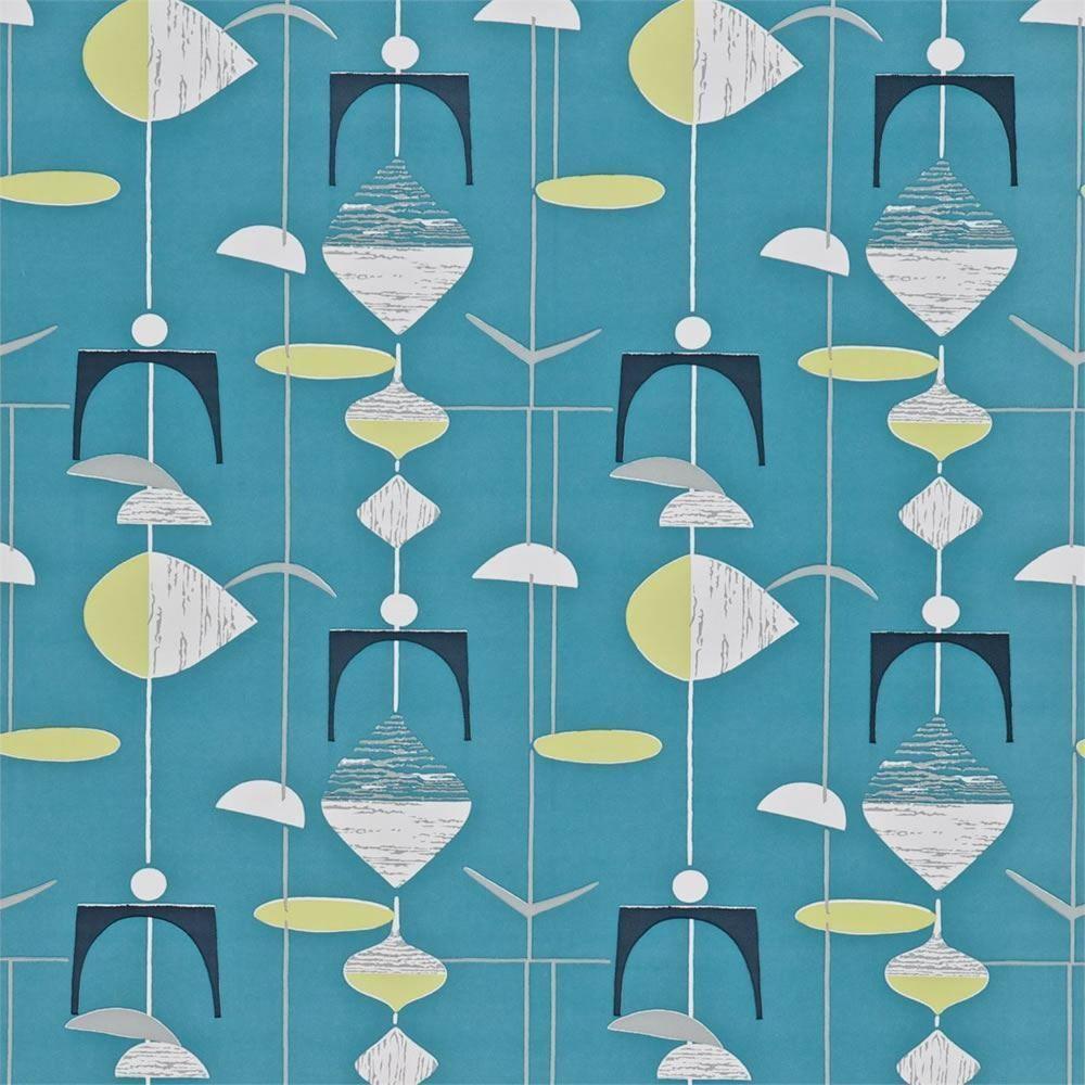 schiefer blau kalk 210215 mobil 50er jahre sammlung sanderson tapete ebay patterns. Black Bedroom Furniture Sets. Home Design Ideas