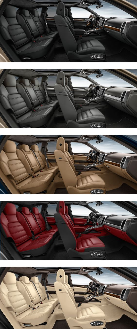 Porsche Cayenne Interior Ambiance The Palette Of Colors And Finishes Ranges From Elegant To Sporty Includes A Selection Fine Woods Aluminium