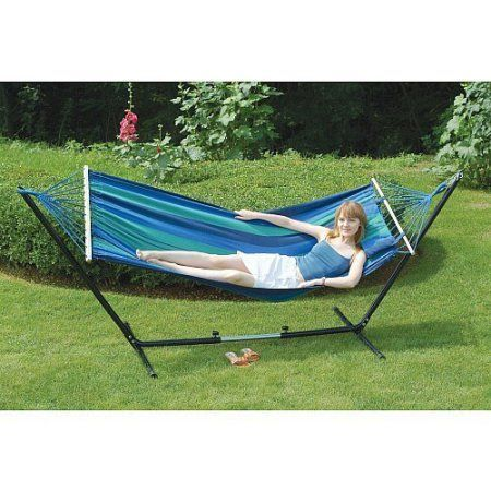 bed com padded quilted amazon dp wooden matching wide w double cadfw stand hammock pl with arc