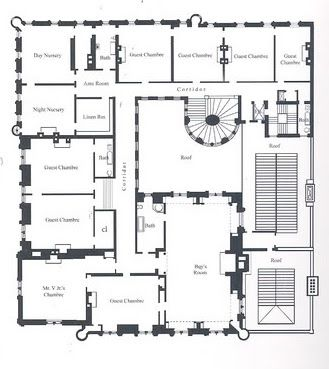 The floor plan is designed where the huge ballroom can be expanded