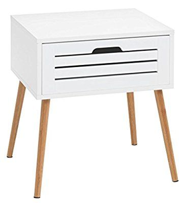 Jysk Bedside Table Broby Bamboowhite House Nightstand