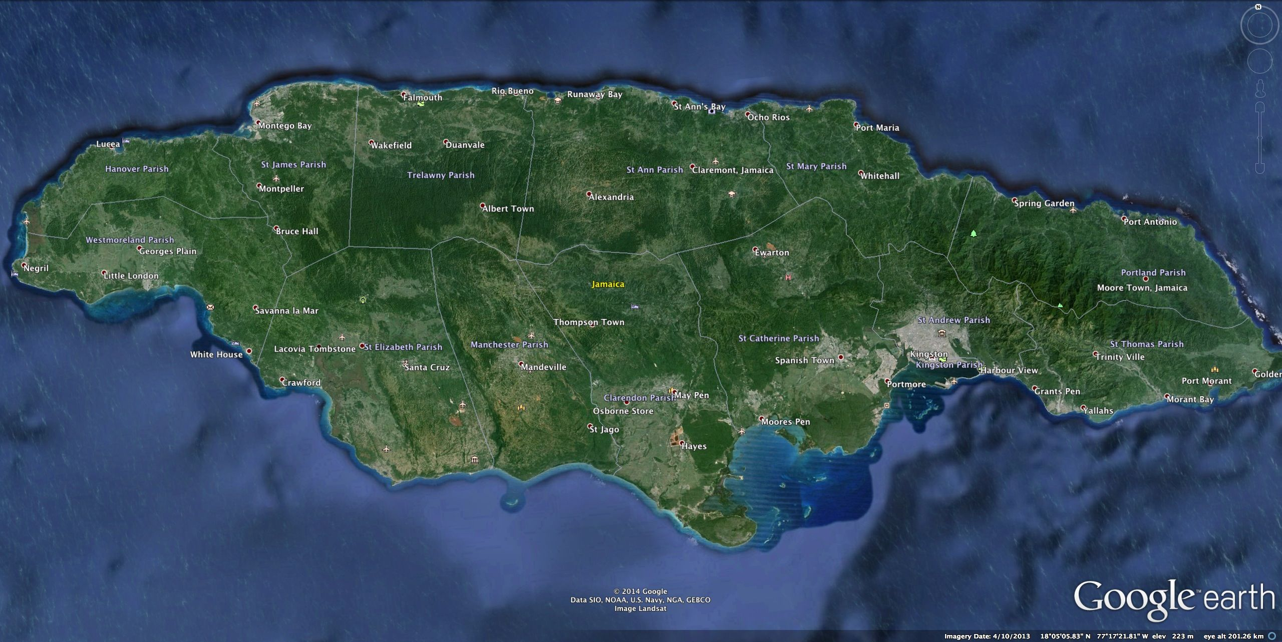 Jamaica google earth pinterest jamaica gumiabroncs Image collections