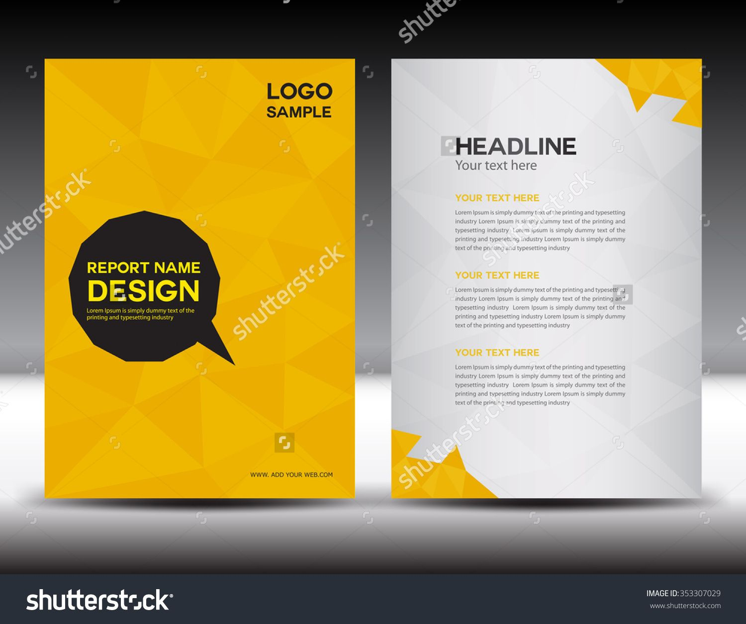 Yellow annual report vector illustrationcover design brochure yellow annual report vector illustrationcover design brochure flyer template designbooklet abstract polygon background newsletter poster leaflet spiritdancerdesigns Image collections