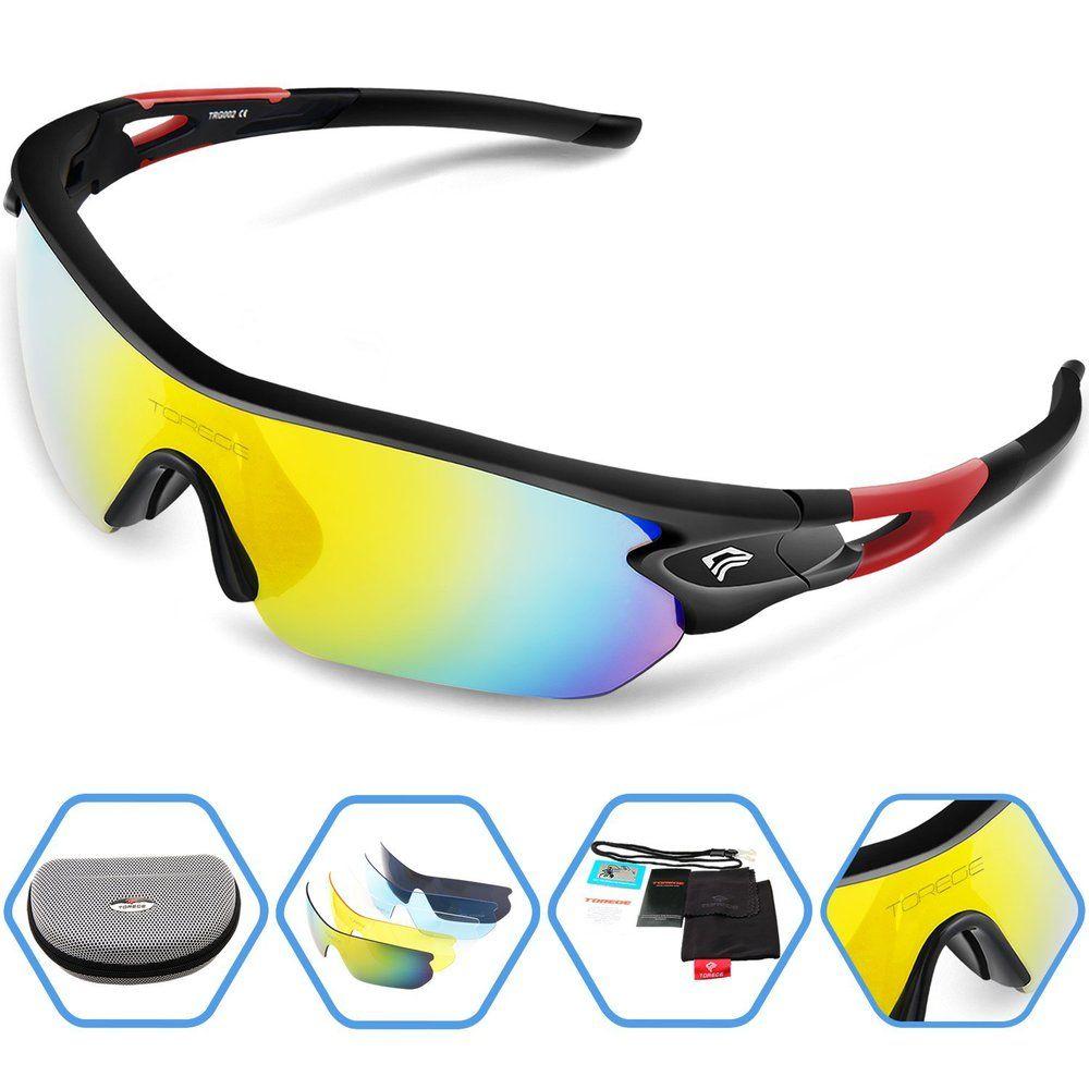 e63ee107da Fashion Sports Sunglasses Polarized Outdoor Glasses for Men Women Sport  Running Fishing Golf Eyewear Unbreakable Frame