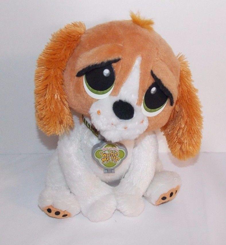 Rescue Pets Wake Me Up Plush Dog Barking Alarm Clock Plush Dog Dog Barking Animal Rescue