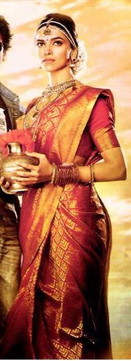 Deepika Padukone In Bridal Avatar From Chennai Express Movie Indian Bridal Sarees Indian Bridal Bridal Saree