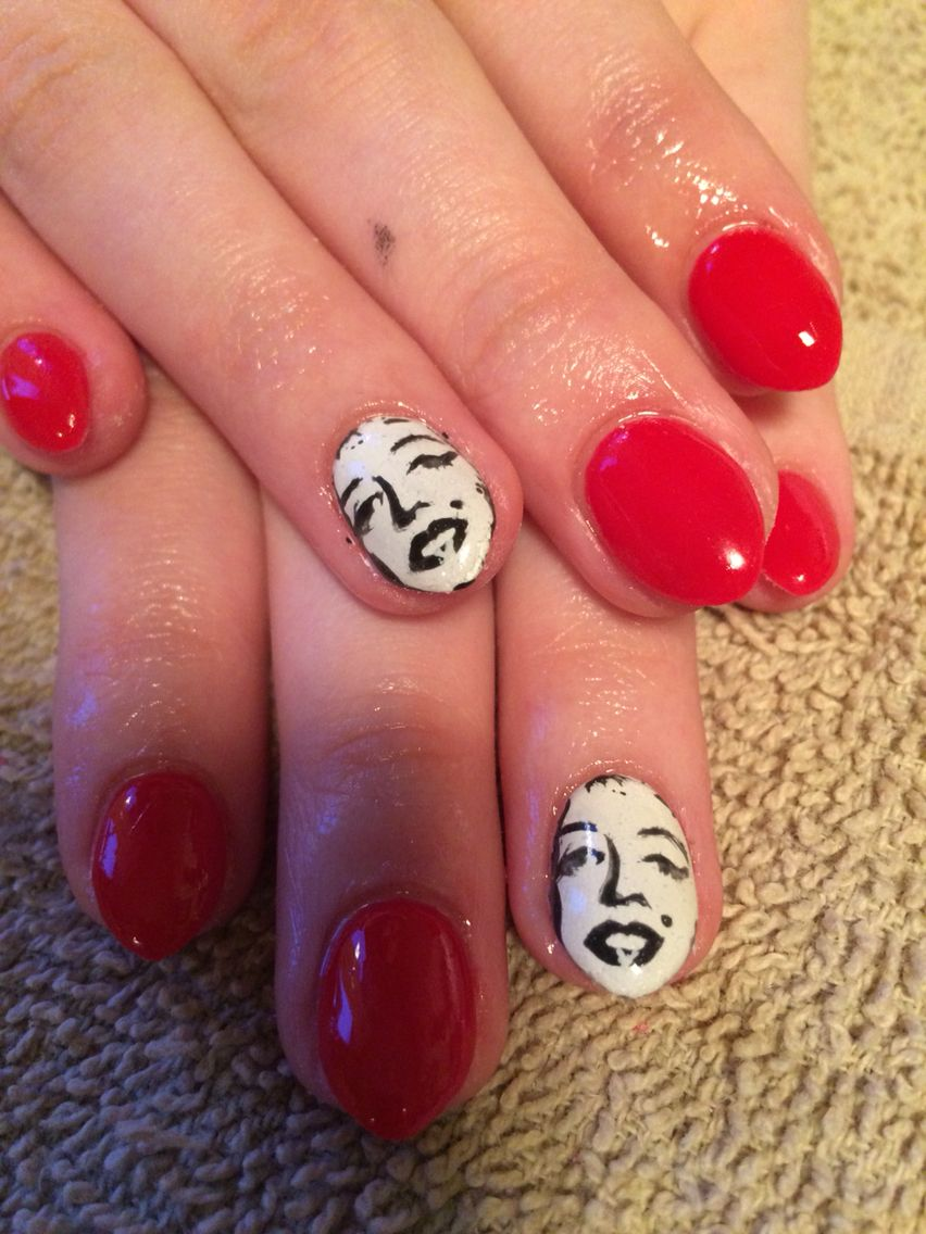 Marilyn Monroe nails hand painted | My work | Pinterest