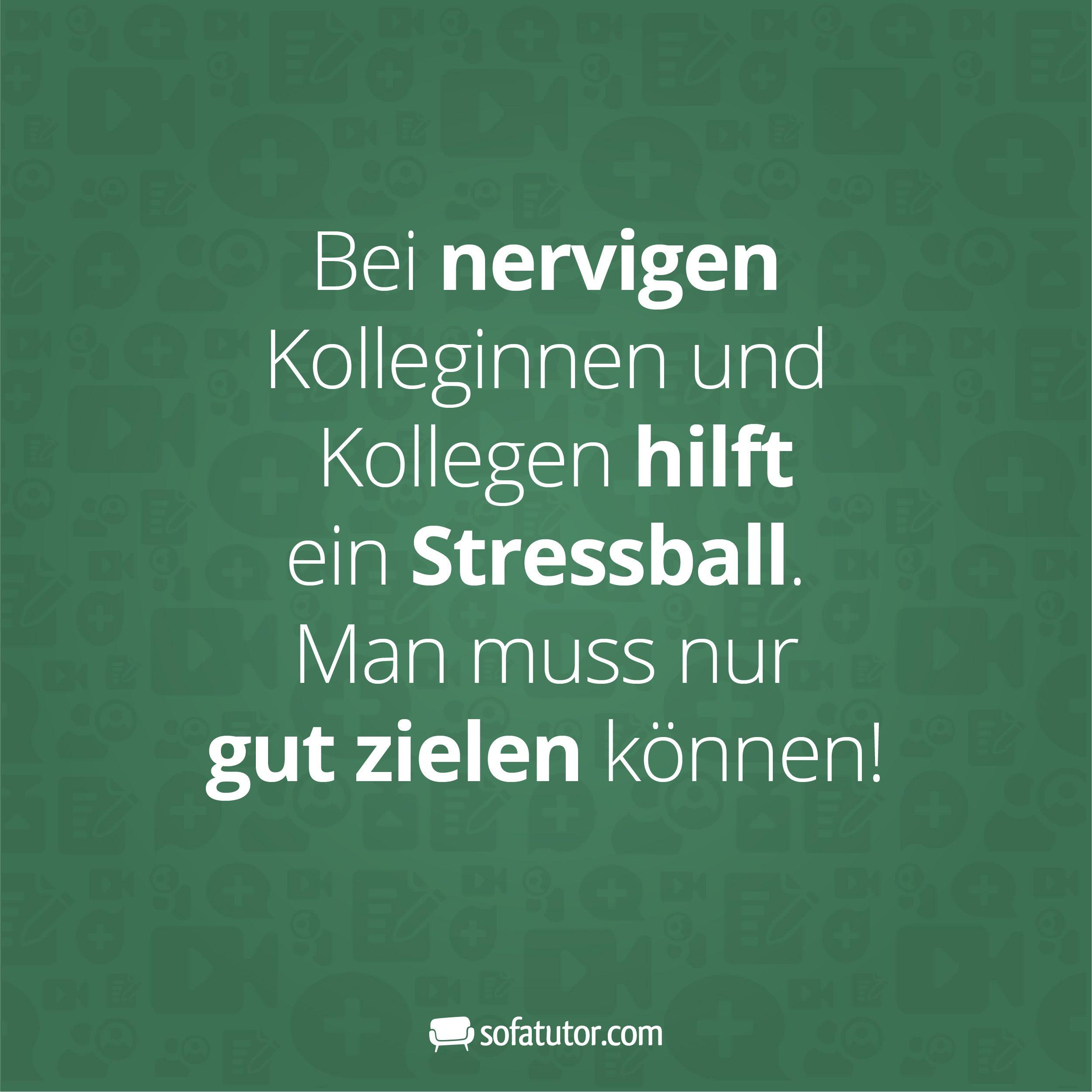 Bei Nervigen Kolleginnen Und Kollegen Hilftein Stressball Man
