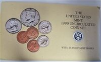 1990 10 Coin Uncirculated Mint Set