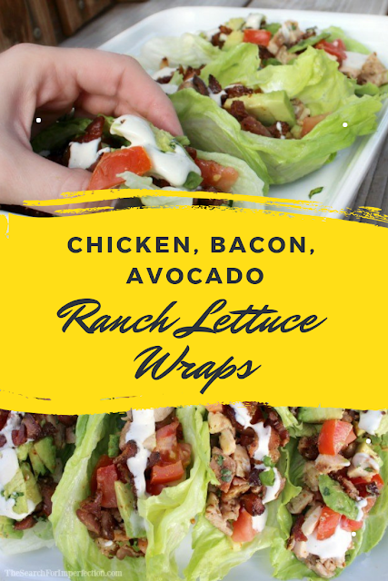 CHICKEN, BACON, AVOCADO RANCH LETTUCE WRAPS | My Delicious Recipes #avocadoranch