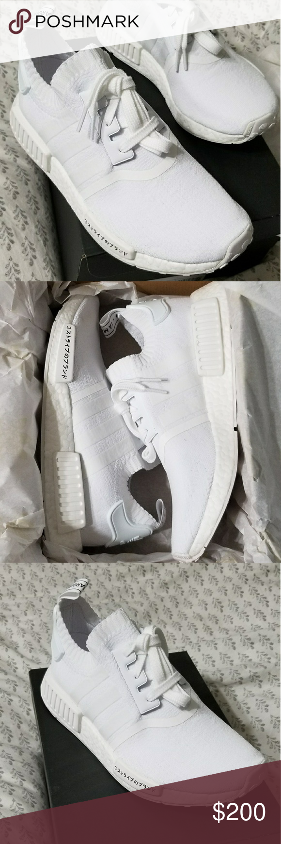 adidas nmd r1 giappone pk in scatola adidas nmd r1 giappone triplo bianco