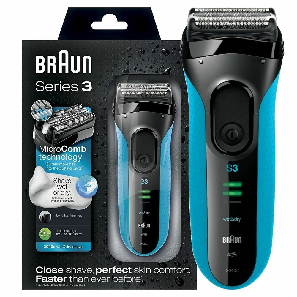 Ebay Sponsored Braun Series 3 Proskin 3040s Wet And Dry Mens Electric Rechargeable Shaver Razor Wet And Dry Braun Electric Shavers Shaver