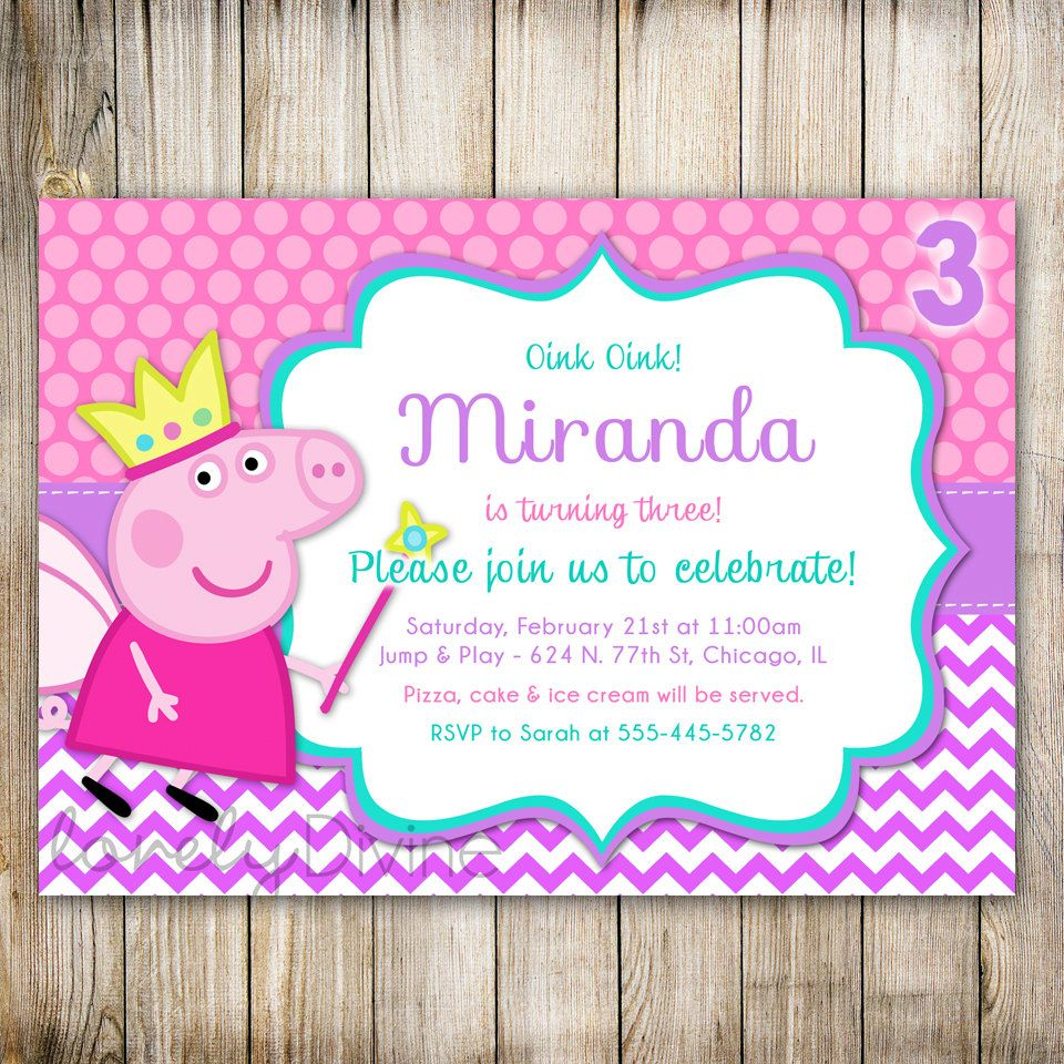 peppa pig invite FREE Printable Princess Fairy Peppa Pig Birthday ...