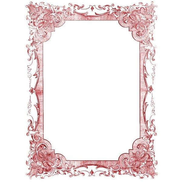 Vintage Clip Art - Romantic Frames - Christmas Colors ❤ liked on ...