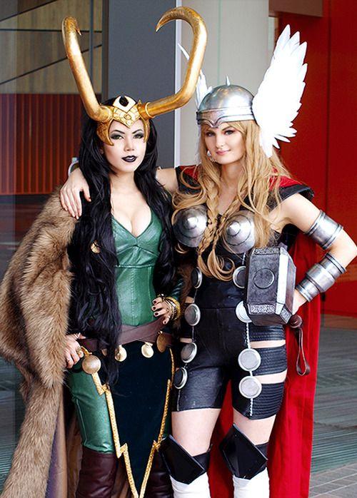 Lady Thor and Lady Loki I like this alot!