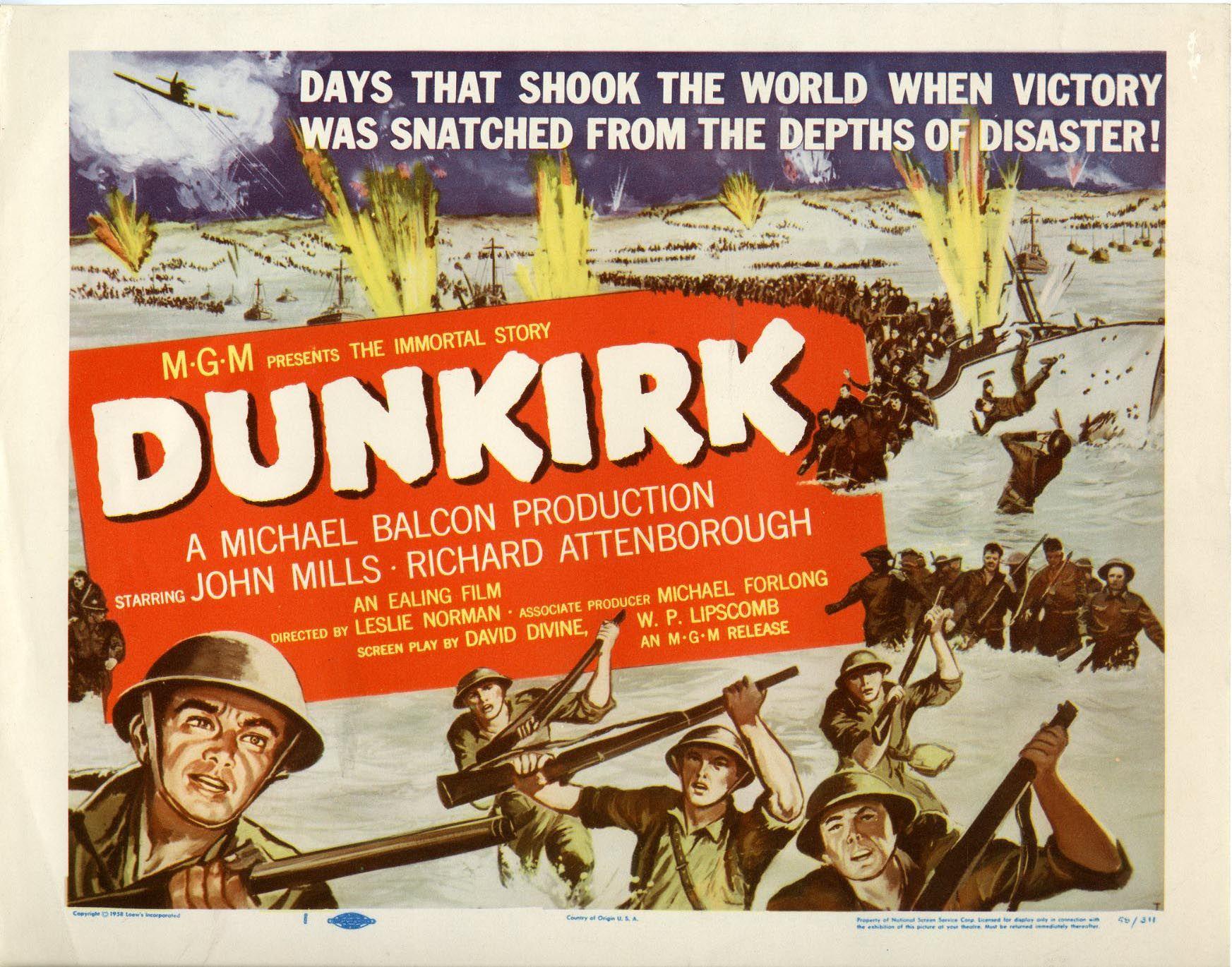 Dunkirk |1958 | Dunkirk, Richard attenborough, Dunkirk movie