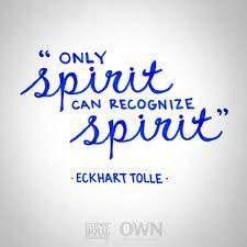 Only spirit....