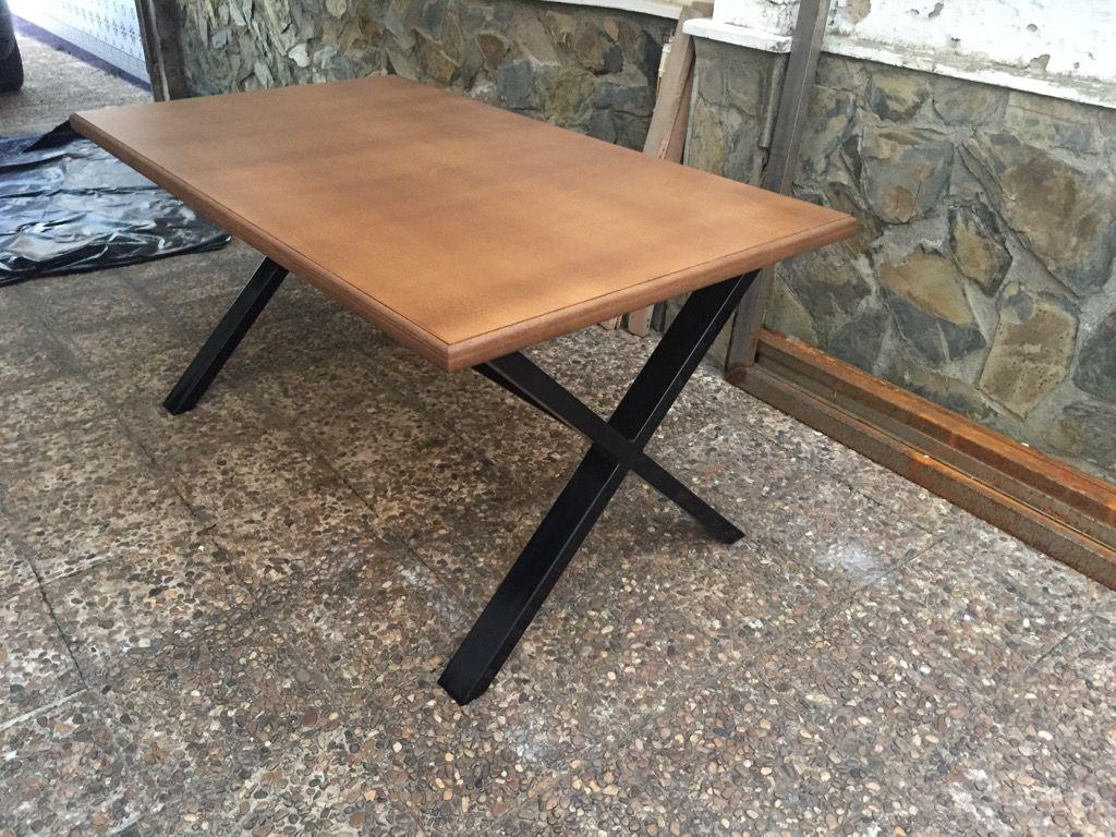 Mesa de comedor bar industrial jardín - 126539606 - Muebles, Deco y Jardín