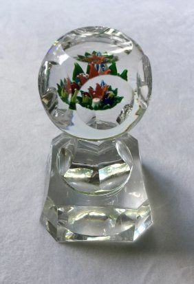 St. Louis Faceted Glass Letter Seal